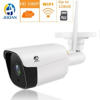 Wireless HD Wifi 1080P IP Camera wifi P2P Waterproof Onvif Metal Bullet Outdoor Camera CCTV Security Wi fi Network White IPCam