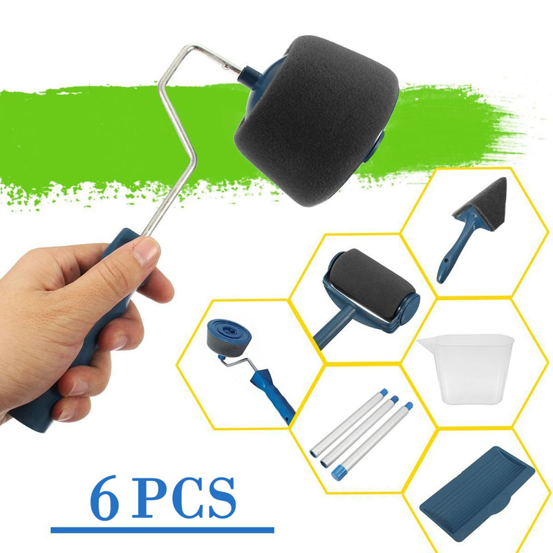 6 PCS/Set DIY Paint Roller Kit Room Wall Painting Runner Pintar Facil Decoration Household Painting Tools Decorative Roller