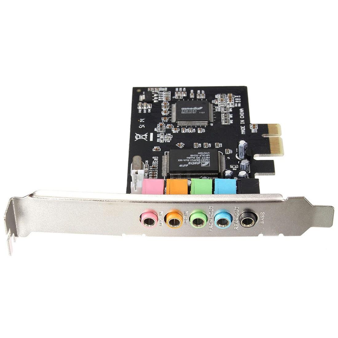 PCI-E 5,1 sonido 6 puerto de tarjeta de sonido CMI8738 cine Sonido envolvente estéreo tarjeta