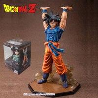 16cm Classic Juguetes Japanese Anime Comic Dragon Ball Z Resin Goku Strength To Play Action Figure