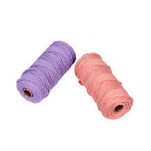 3mm color cotton rope thick DIY hand-woven tapestry twist decoration bundled drawstring