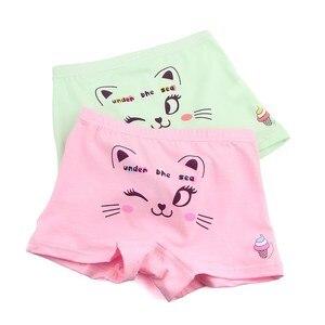 Image 3 - 10 Stks/partij Kinderen Schattige Cartoon Kat Boxer Korte Meisjes Comfortabele Ondergoed Underpant 1 10year