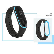 Double Colorr mi band 3 accessories pulseira miband 3 strap Elastic thermoplastic TPU Wrist strap for xiaomi mi 3 band(China)
