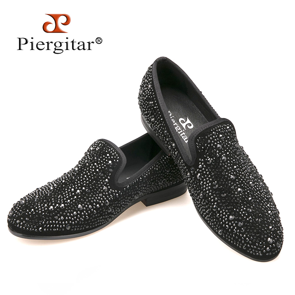 Men Black Crystal shoes GZ same paragraph shoes 2016 New Suede Genuine Leather Fashion Men's Flats Prom male loafers Size 4-17