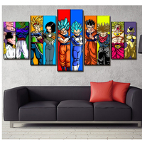 Picture custom full square Diamond painting 5pcs Japan Anime dragon ball 5d Mosaic Cross Stitch Diy Diamond Embroidery sale