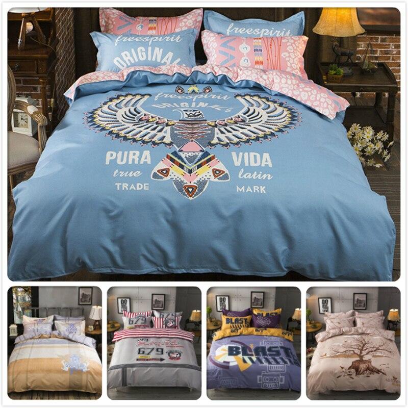 Power Source Intelligent Pura Vida Eagle Animal Print Duvet Cover 1.5m 1.8m 2m Flat Sheet King Queen Double Size Bedlinens 3/4 Pcs Bed Linens Bedding Set