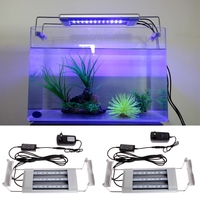 Tanque de Peces de acuario 18 Soporte de La Lámpara Blanca Luz LED Azul Impermeable EE. UU. Enchufe de LA UE 220 V energía eficiente aparato de luz