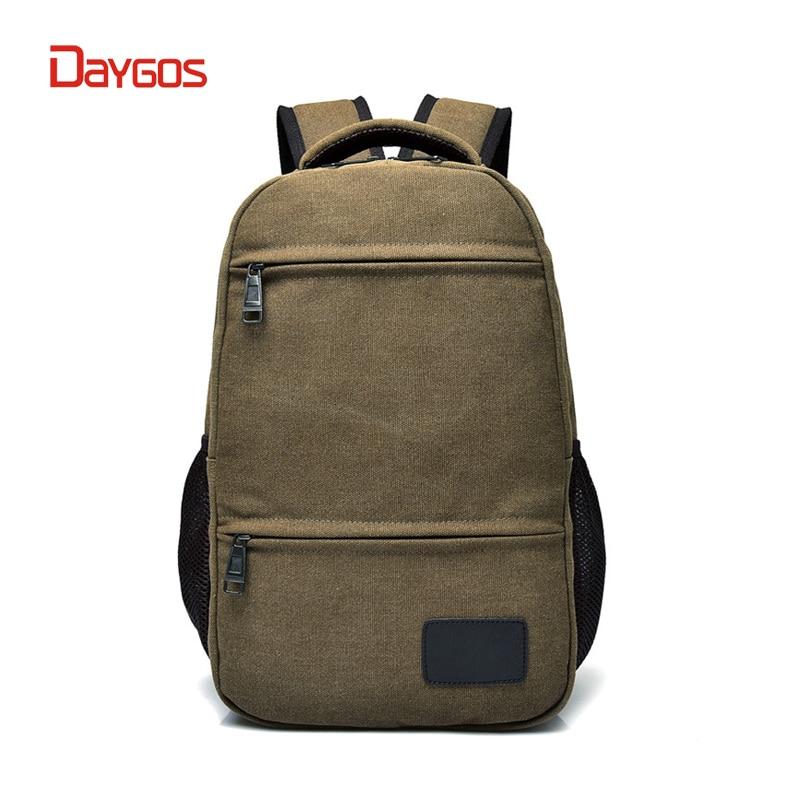 DAYGOS Women Canvas Backpack Men Large School Bags For Teenager Boys Girls Travel Laptop Backbag Casual Mochila Rucksack