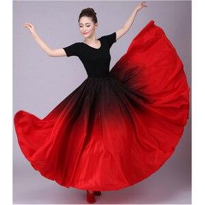 Image 4 - 720 Göbek Çingene Etek Oryantal Dans Fırfır Flamenko Etek Yeni Oryantal Dans Büyük Etekler Oryantal dans eteği Flamingo Kostüm B 6832