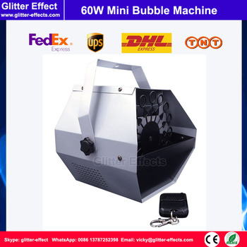 Â�テージリモートコントロール60ワットバブル機段特殊効果ウェディングパーティーdjディスコミニ小さなバブルマシン