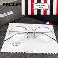 2017 том браун очки оптический бренд очки Компьютер Круглые очки кадр Моды темперамент oliver peoples óculos де грау