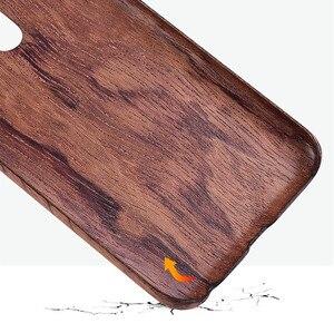 Image 5 - Funda trasera delgada de madera de caoba de palisandro de madera de enonía de nogal para Meizu 16th /16th Plus