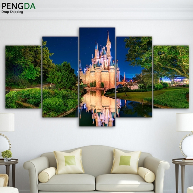 Abstract Canvas Painting Wall Art Poster Modular Anime World