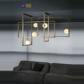 G9 LED Postmodern fer verre noir doré lustre éclairage lampe à LED lumière LED pour Foyer salle à manger