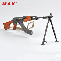 1/6 Scale 1/6 WWII WW2 Soviet RPK machine guns Rifle Model Weapon Toys For Action Figure Accesssories