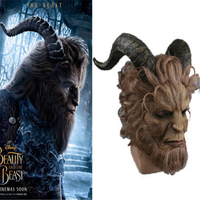 2017 Beauty And The Beast Mask Prince Mask Horror Beast Party Mask Handmad New Cosplay Costume