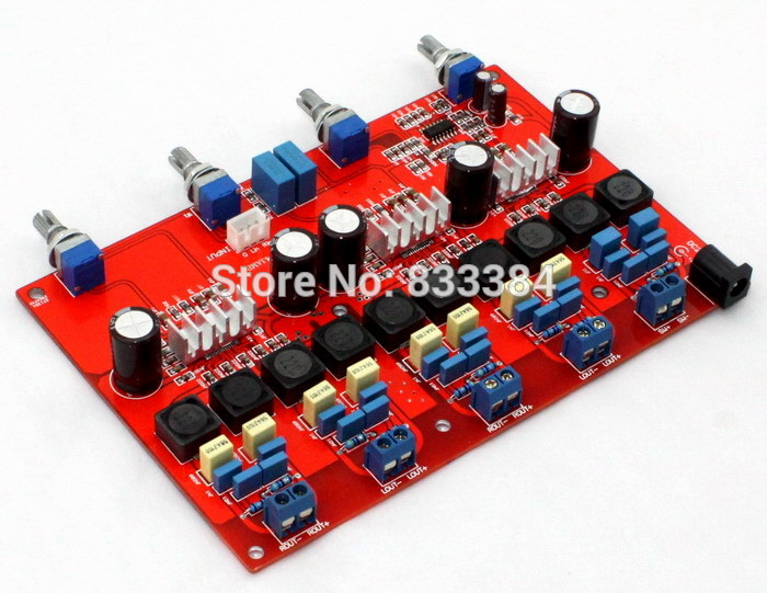 цена на 4.1 TPA3116 digital amplifier assembled board class D DC18V-DC24V (100W+50W*4) free shipping