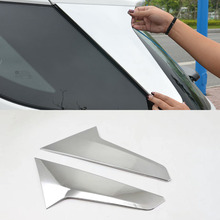 For Chevrolet Equinox Third GE 2017 2018 2019 ABS chrome trims Rear window sequins glass Spoiler side triangle Molding part 2pcs chrome chrome third from the sun