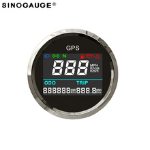 52mm 2inch Motorcycle Digital LCD GPS speedometer for Motorbike free shipping 2018 New Design