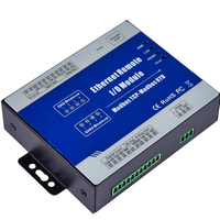 Ethernet Data Acquisition Module Modbus TCP Remote IO Supports 5 TCP Links Pulse counter 12 36V with 4 Relay outputs M120T