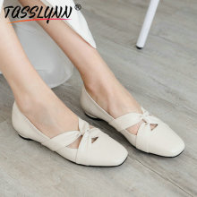 цены TASSLYNN 2019 Women Pumps Butterfly-knot Heel Women Shoes Square Toe Square Low Heels Spring Autumn Pumps Women Slip on 34-40