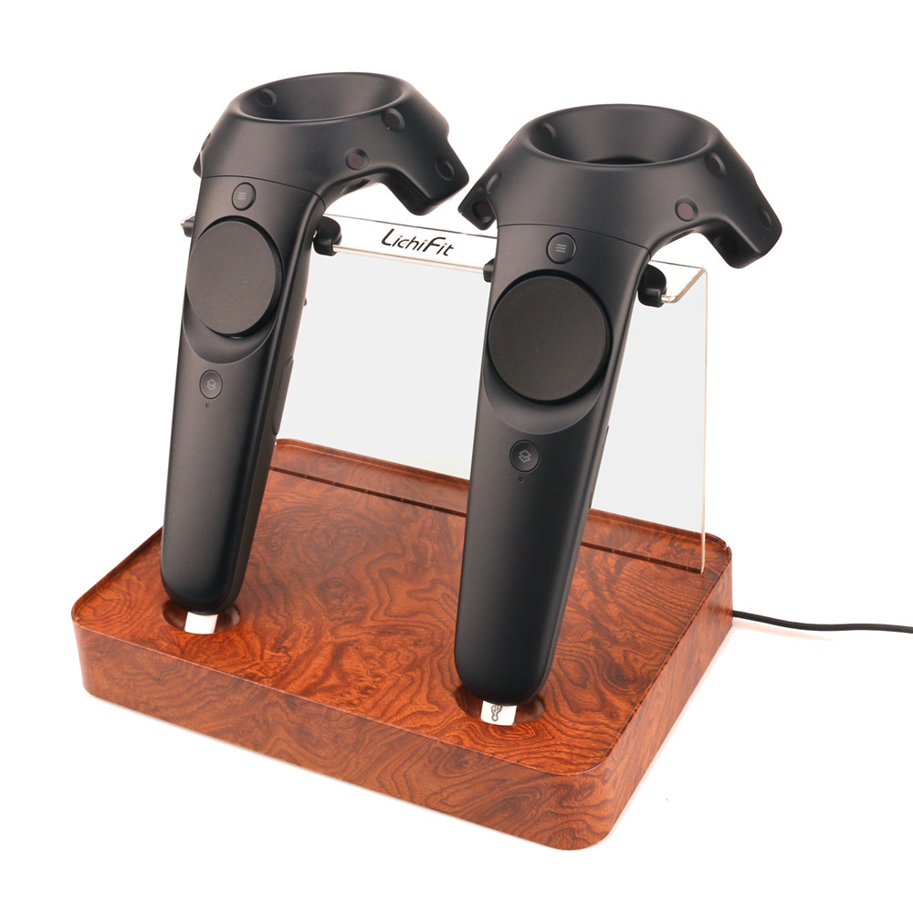 Magnetic Dual Wireless Charger Charging Station for HTC Vive Pro VR Controller Double Handle Charging Station