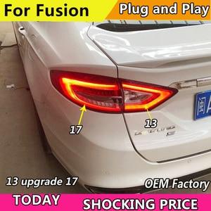 Image 3 - Auto Styling Schwanz Licht Fall Für Ford Fusion Rückleuchten 2013 upgrade 2017 LED Rücklicht Hinten Lampe DRL + Bremse + Park + Signal licht