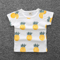 Kids clothes 2017 new Girls Summer pineapple Girls T Shirt Tops Tee Children Clothing cotton Baby Girls T-Shirt Clothes