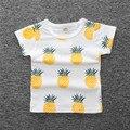 Roupa dos miúdos 2017 Meninas novas Verão Meninas abacaxi T Shirt Tops T Crianças Roupas de algodão Do Bebê Meninas T-Shirt Roupas