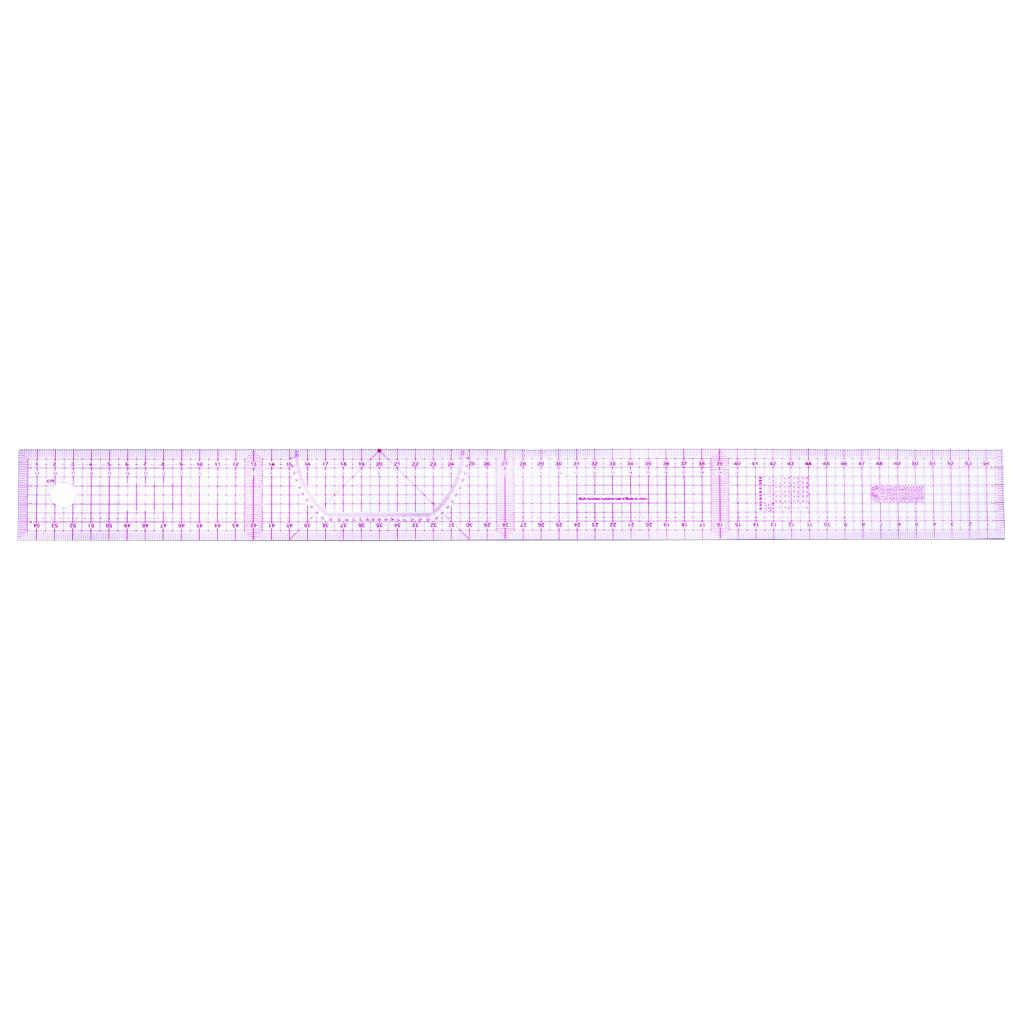 7Pcs French Metric Ruler Plastic Curve Shaped Grading Rulers for Sewing Dressmaking Pattern Design Clothing Drawing Template