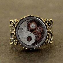 Alice in Wonderland Clock Watch yinyan bronze Steampunk Ring