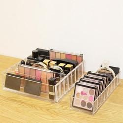 Novo acrílico claro maquiagem organizador caixa de armazenamento de cosméticos caixa de maquiagem em pó desktop titular batom feminino organizador maquillaje