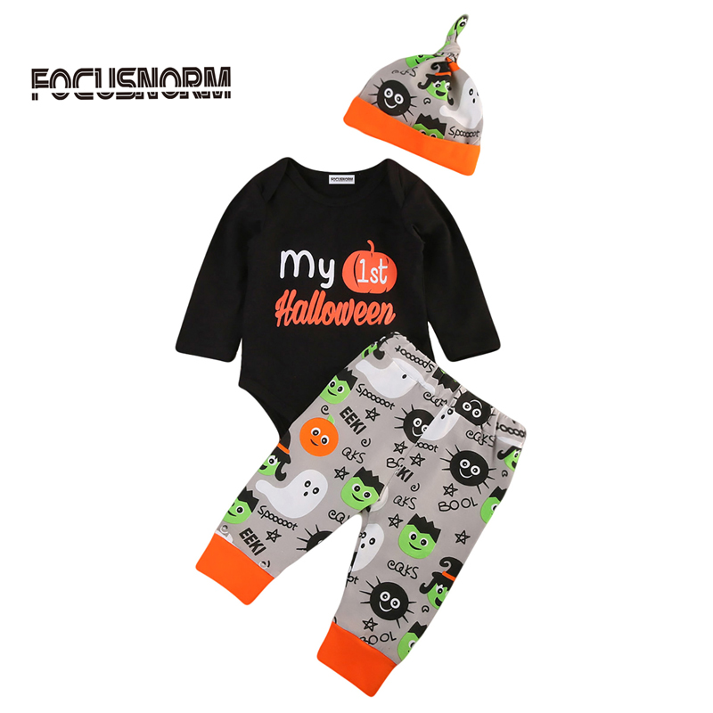 AU Toddler Baby Boy Girl Romper Jumpsuit Top Pants Legging Outfits Halloween Clothes Set 0-2Y