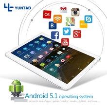 """K107 Yuntab 10.1 """"Android 5.1 Tablet 1 GB + 16 GB Quad-Core Android tablet con Doble Cámara soporte de Doble Tarjeta Sim 4500 mAH de la batería"""
