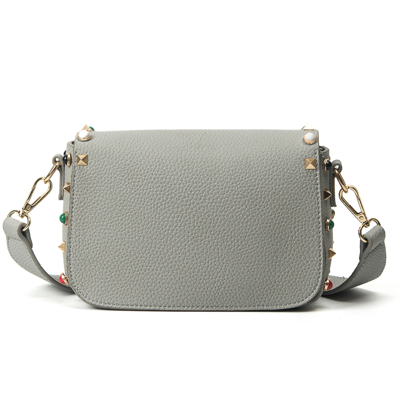 Fashion Rivet Small Flap Women Bag Bolsos Mujer Designer Handbags High Quality PU Leather Lock Ribbons Shoulder Crossbody Bags