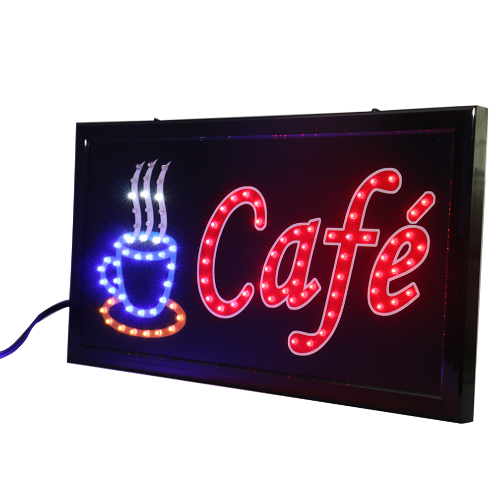 CHENXI 27 Styles New Led Coffee Shop Neon Signs Animated 19*10 Inch Coffee Cafe Store Business Open Led Advertising Light.