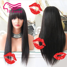 8A Grade Virgin Brazilian Human Hair wigs Full Lace Wig in Natural baby hair hairline Lace Front Wig Glueless Wig Free Shipping