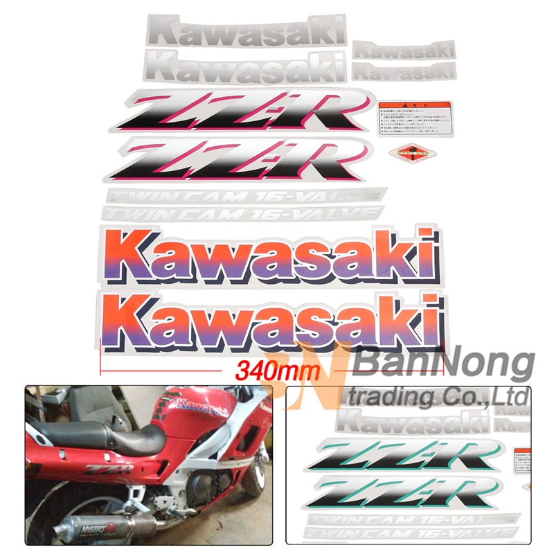 Motorcycle Sticker Decal Bady Stickers Fuel Tank Decals For Kawasaki ZZR250 ZZR400 ZZR 250 400