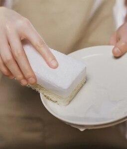 Image 3 - 6 pcs xiaomi mijia 3 layer spons huishoudelijke reiniging tool drie layer composiet afwassen borstel gezond voor familie