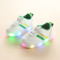 2018 Fashion LED Lighting Baby Toddlers Glowing Sneakers For Baby Hot Sales Shinning Baby Girls Boys
