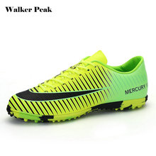 Check Discount Adult Futsal shoes for football sock boots boys soccer cleats krossovky for footballl shoes kids with ankle bracelet wholesale