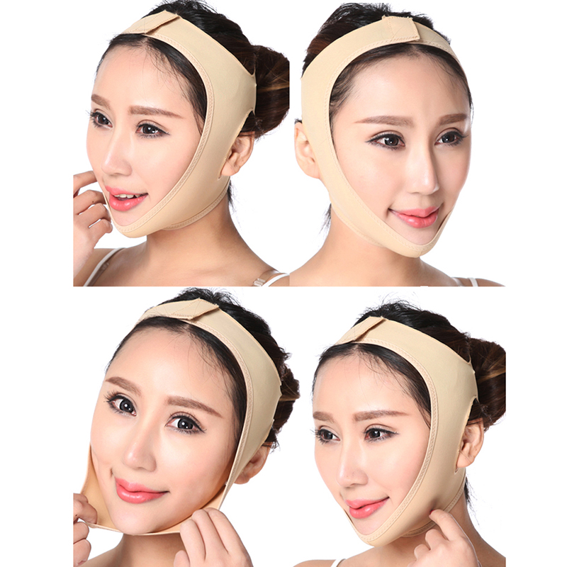 Face Lifting Tools Slimming Face Mask Facial Thin Masseter Double Chin Skin Face Bandage Belt Women Beauty V-shaped Face Care