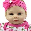 Дешевые Куклы Детские Игрушки 22 Дюймов Силиконовые Reborn Baby Doll Реалистичного Кукла Reborn Младенцы Ручной Принцесса Кукла Девочка Рождественский Подарок