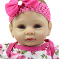 Cheap Doll Baby Toys 22 Inch Silicone Reborn Baby Doll Lifelike Doll Reborn Babies Handmade Princess Doll Girl Christmas Gift