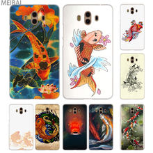 MEIBAI koi fish Transparent cover case for Huawei Mate 7 8 9 10 20 Mate 10 20 lite Mate 20 pro 20x S cover(China)