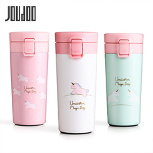 JOUDOO Thermos Coffee Mug Travel Vacuum Flask Stainless Steel Portable Water Bottle Insulation Tumbler Cup Thermocup 400ml 35