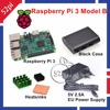 52Pi Raspberry Pi 3 Starter Kit with Raspberry Pi 3 Model B + 5V 2.5A EU/US/UK/AU Power Supply + Heatsinks + ABS Black Case