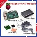 Raspberry Pi 3 Starter Kit с Raspberry Pi 3 Модель B + 5 В 2.5A ЕС/США/ВЕЛИКОБРИТАНИЯ/AU Питания + Радиаторы + ABS Черный случае