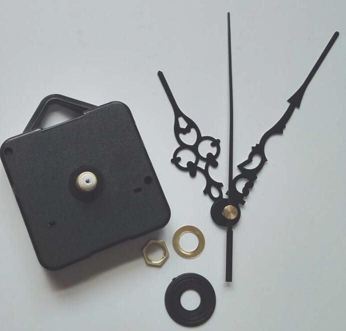 100 Sets Silent Wall Clock Quartz Movement Mechanism Black DIY Wall Clock Quartz Clock Hands Clock Movement replacement in Clock Parts Accessories from Home Garden