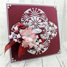 YaMinSanNiO Flower Metal Cutting Dies Troqueles De Corte Scrapbooking Stitch Die Cut Craft Happy Birthday